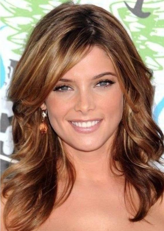 Best And Newest Long Haircuts With Layers And Side Bangs With 50 Layered Hairstyles With Bangs (View 6 of 15)