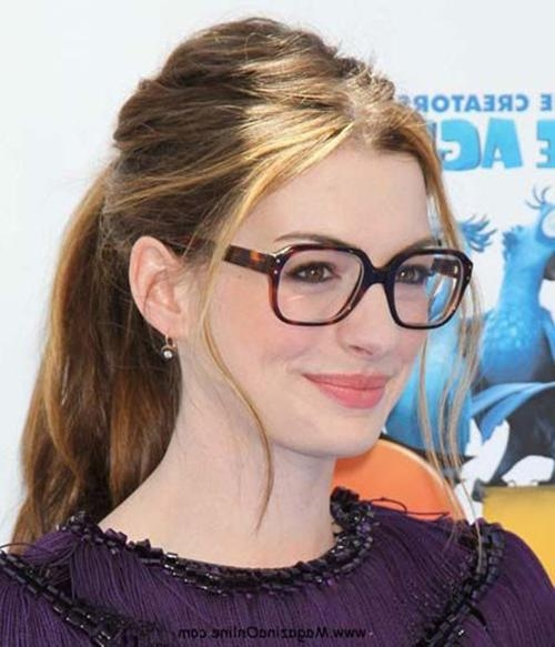 Best And Newest Long Hairstyles For Girls With Glasses Pertaining To Long Hairstyles Glasses: Hairstyles For Oval Faces With Glasses (View 3 of 15)