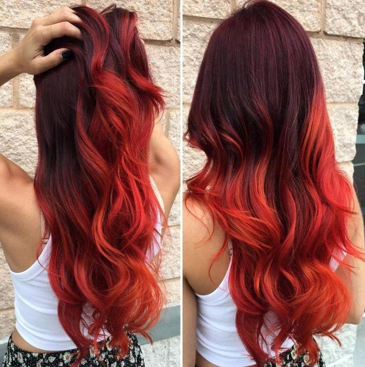 Best And Newest Long Hairstyles For Red Hair In Best 25+ Bright Red Hairstyles Ideas On Pinterest | Beautiful Red (View 13 of 20)