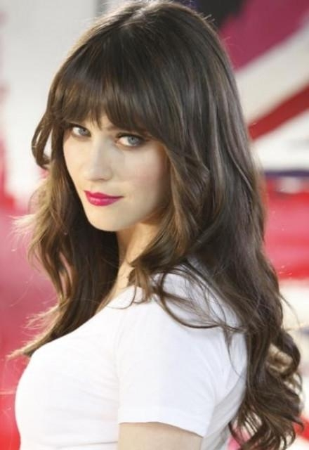 Best And Newest Long Hairstyles With Straight Bangs For Hubpages: Zooey Deschanel – Articles – Zimbio: Zooey Deschanel (View 16 of 20)