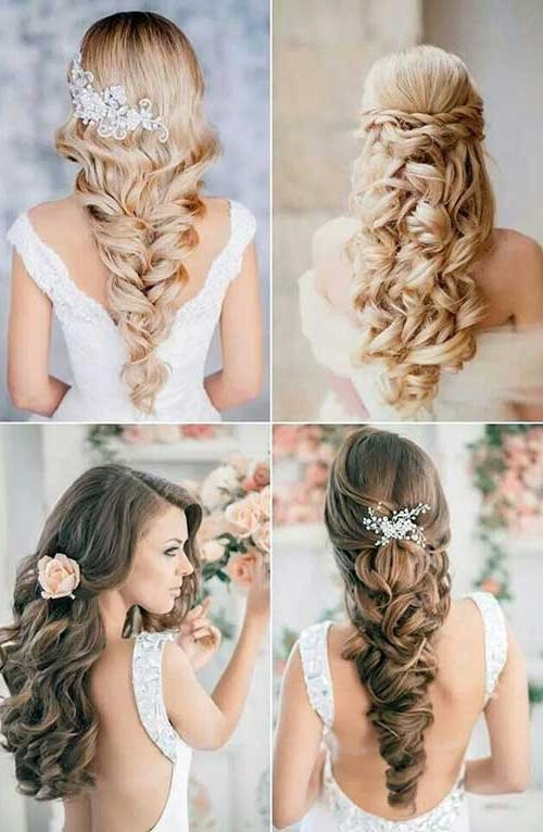 Best And Newest Wedding Long Hairstyles Regarding Wedding Hairstyles For Long Curly Hair Best Wedding Hairstyles (View 4 of 20)