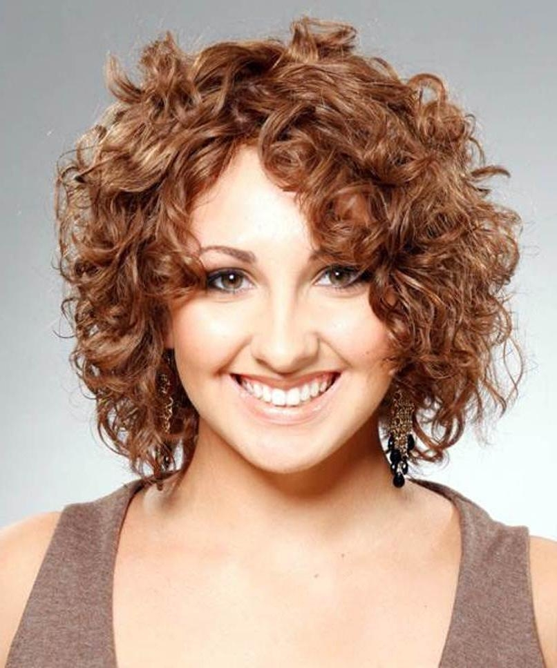 Featured Photo of Short Haircuts For Naturally Curly Hair And Round Face
