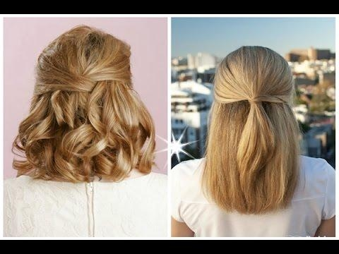 Best Half Up Half Down Hairstyles For Long Short Curly Hair – Youtube With Regard To Half Up Half Down Short Hairstyles (View 12 of 20)
