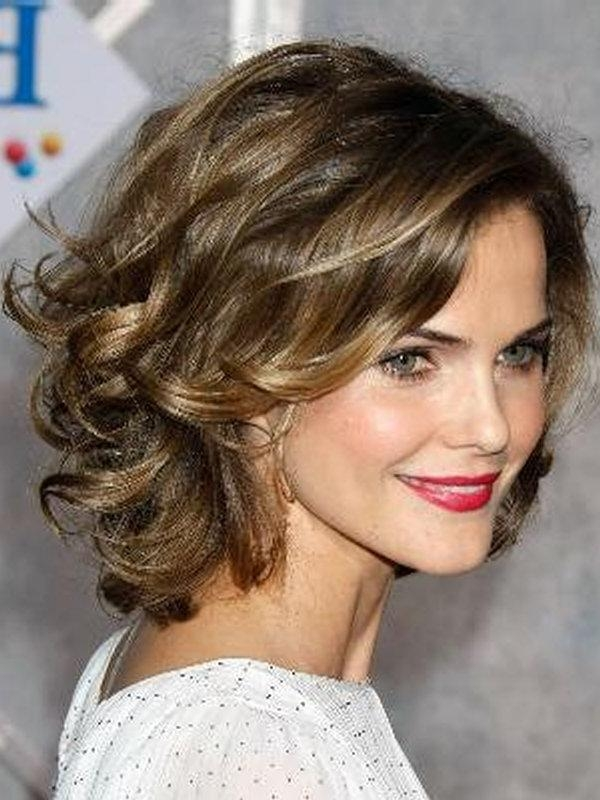 Photo Gallery Of Short Hairstyles For Round Faces Curly Hair
