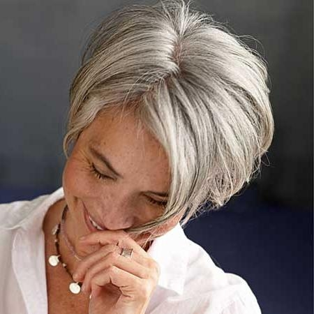 Best Short Haircuts For Older Women | Short Hairstyles 2016 – 2017 Within Short Haircuts For Grey Haired Woman (View 15 of 20)