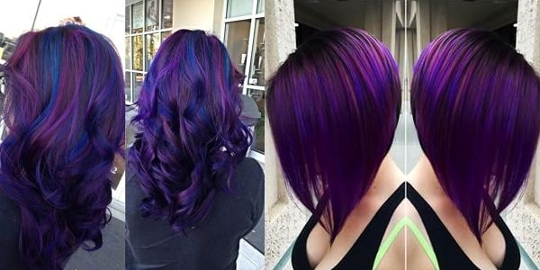 Black & Purple Hairstyles! A Gorgeous Combination! Intended For Purple And Black Short Hairstyles (View 10 of 20)
