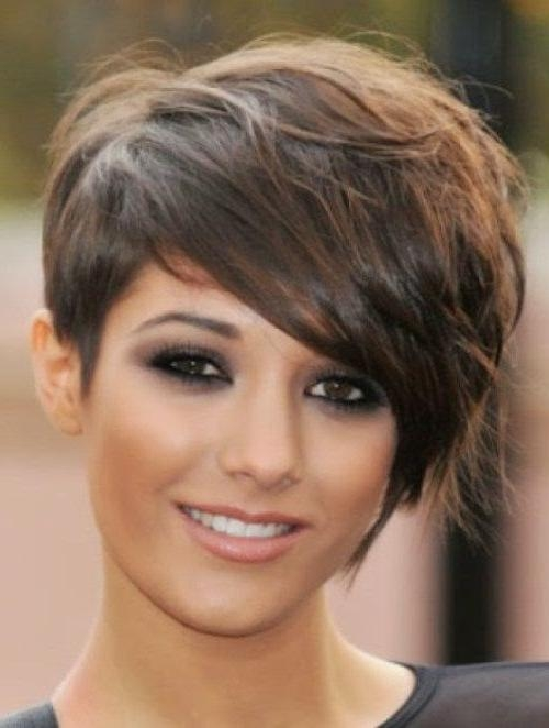 Black Women Hairstyles: Latest Short Hairstyles For Round Faces 2014 Regarding Edgy Short Hairstyles For Round Faces (View 14 of 20)