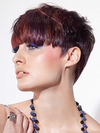 Blunt Cut Bangs Hairstyles Ideas With Regard To Short Hairstyles With Blunt Bangs (View 16 of 20)