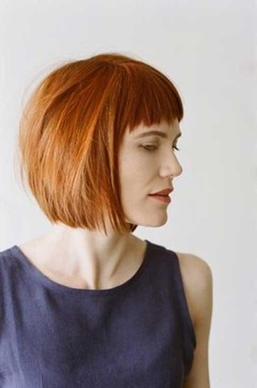 Bob Cuts For Fine Hair | Short Hairstyles 2016 – 2017 | Most Pertaining To Short Hairstyles With Blunt Bangs (View 9 of 20)