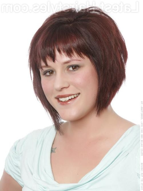 Photo Gallery Of Short Haircuts With Bangs For Round Faces Viewing