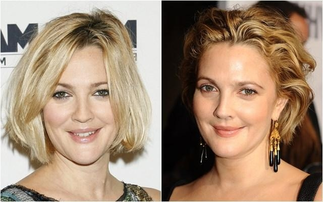 Celebrity Hairstyles For Fat Chubby Face | Cinefog In Short Hairstyles For High Cheekbones (View 8 of 20)