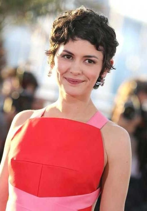 Celebrity Short Curly Hairstyles | Short Hairstyles 2016 – 2017 Within Audrey Tautou Short Haircuts (View 14 of 20)