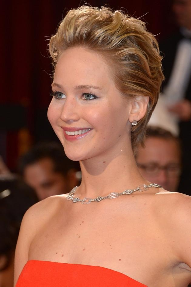 Celebrity Short Hair Hairstyles To Inspire Your Next 'do Regarding Short Hairstyles Swept Off The Face (View 4 of 20)