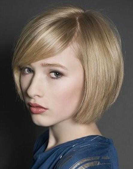 Chic Bob Haircut With Side Swept Bangs – Latest Short Hairstyle Pertaining To Short Haircuts With Side Swept Bangs (View 8 of 20)
