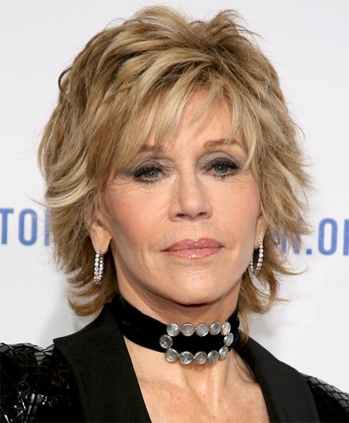Choppy Look For Mature Fashionistas! Jane Fonda Haircut With Choppy Short Hairstyles For Older Women (View 16 of 20)