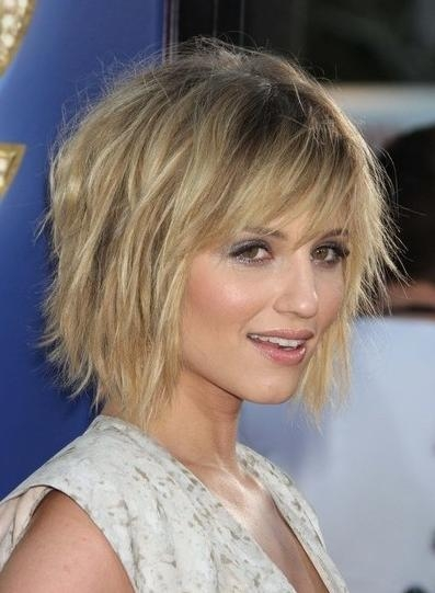 Choppy Short Hairstyle For Fine Hair – Popular Haircuts In Short Haircuts With Bangs For Fine Hair (View 17 of 20)