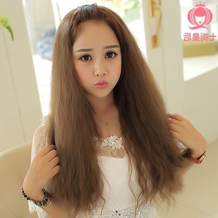 Corn Hot Short Hair Long Hair Wig Long Curly Wig Half Wig And Regarding Half Long Half Short Haircuts (View 10 of 20)