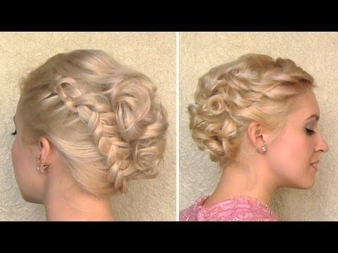 Curly Wedding Updo Prom Hairstyle For Medium Long And Short Hair With Short Hairstyles For Prom Updos (View 13 of 20)