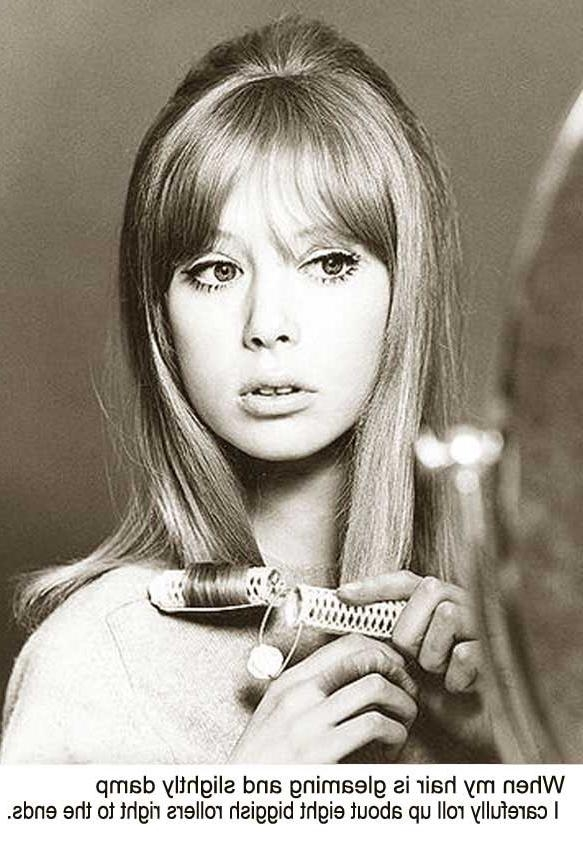 Current 1960S Long Hairstyles Within 1960S Long Hairstyle Tips –Sixties Model Pattie Boyd (View 2 of 20)