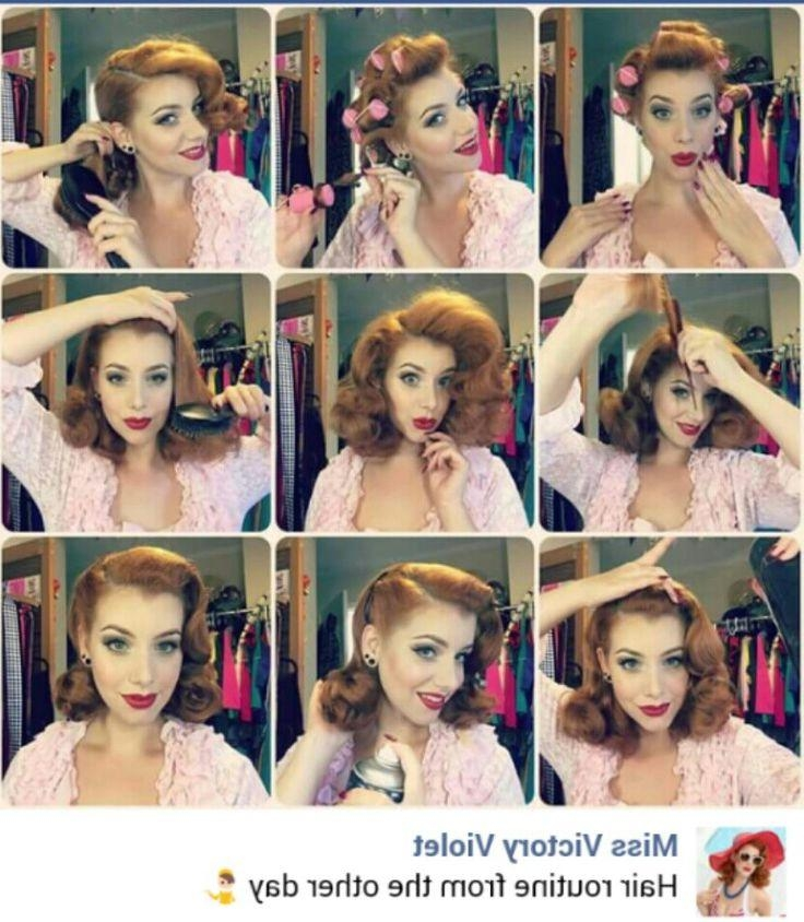 Current 50s Long Hairstyles Inside The 25+ Best 50s Hairstyles Ideas On Pinterest | Diy 1940s Hair (View 17 of 20)