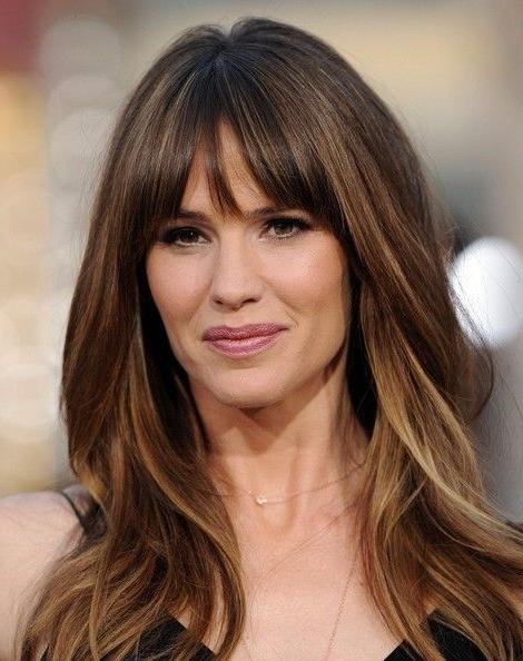 Current Bang Long Hairstyles Within Best 25+ Bangs Long Hair Ideas On Pinterest | Fringe Bangs, Long (View 6 of 20)