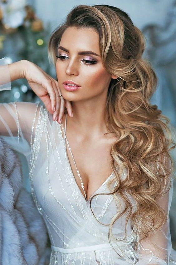 Current Brides Long Hairstyles Inside Best 25+ Wedding Hairstyles Side Ideas On Pinterest | Wedding Hair (View 8 of 20)