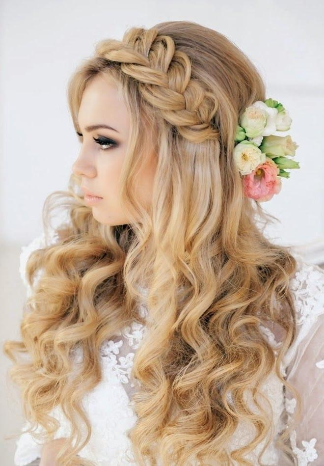 Current Brides Long Hairstyles Within 35 Wedding Hairstyles: Discover Next Year's Top Trends For Brides (View 9 of 20)