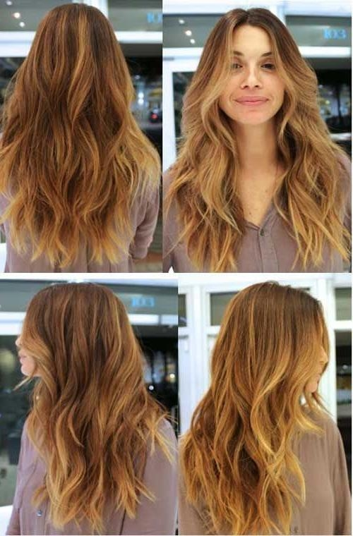 Current Curly Hair Long Hairstyles In Best 25+ Long Wavy Haircuts Ideas On Pinterest | Cute Mom Haircuts (View 2 of 20)