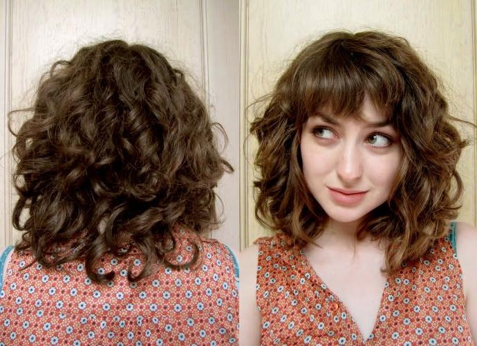 Current Curly Long Hairstyles With Bangs Inside Best 25+ Curly Hair With Bangs Ideas On Pinterest | Bangs Curly (View 3 of 20)