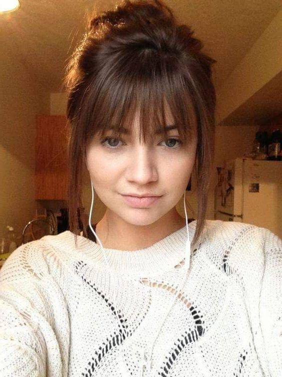 Current Cute Long Hairstyles With Bangs Inside 25+ Beautiful Cute Bangs Ideas On Pinterest | Chunky Bangs, Wispy (View 8 of 20)