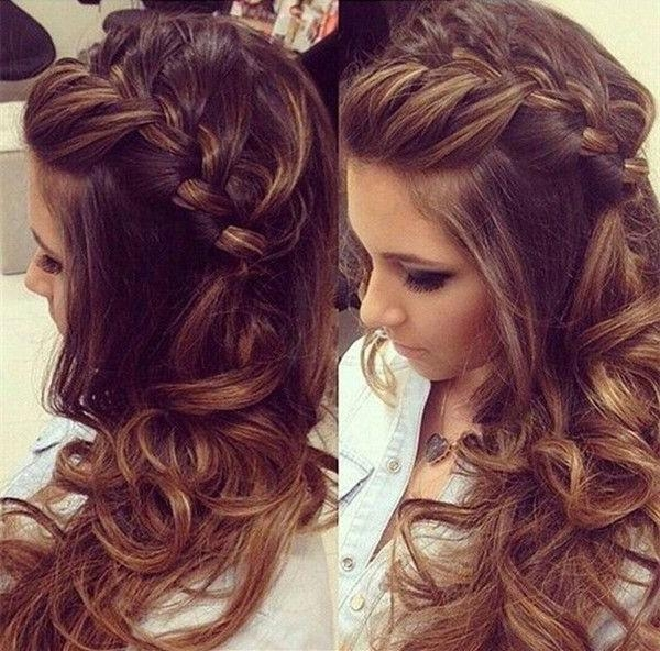 Current Down Long Hairstyles Pertaining To 25+ Trending Bridesmaid Hair Curly Ideas On Pinterest | Updo Curly (View 9 of 20)