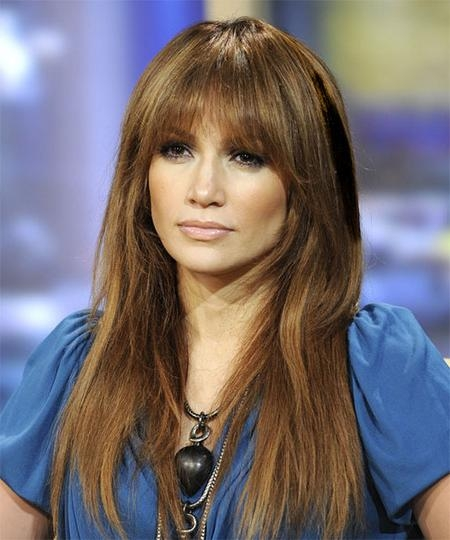 Current Fringe Long Hairstyles Inside 7 Top Ways To Wear Hairstyles With Bangs – The Hairstyle Blog (View 12 of 20)