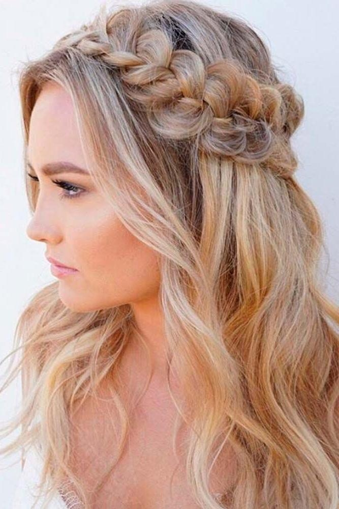 Current Half Up Long Hairstyles Inside Best 25+ Half Up Half Down Ideas On Pinterest | Prom Hair Down (View 5 of 20)