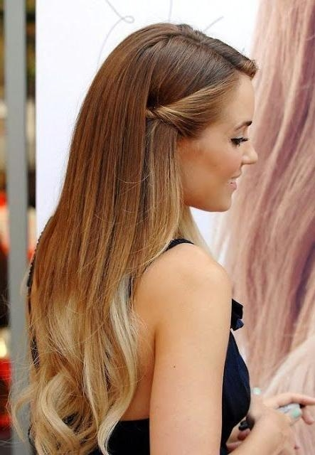 Current Half Up Long Hairstyles Regarding Best 25+ Half Up Half Down Ideas On Pinterest | Prom Hair Down (View 6 of 20)