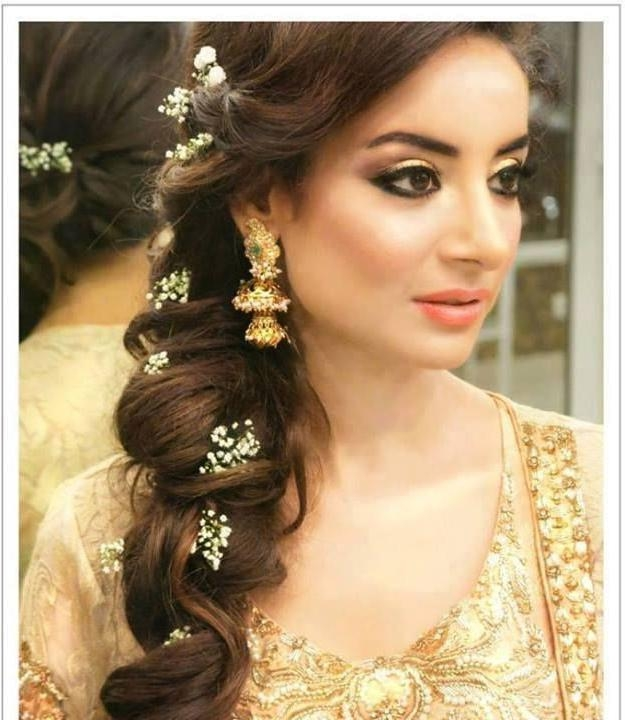 Current Indian Wedding Long Hairstyles Throughout Long Hairstyle For Curly Hair For Indian Brides | News Share (View 5 of 20)