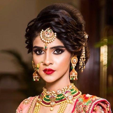 Current Indian Wedding Long Hairstyles Within Bridal Hairstyles For The Modern Indian Bride (View 6 of 20)