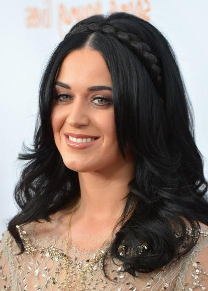 Current Katy Perry Long Hairstyles Pertaining To Braided Hairstyles For Long Hair: Katy Perry Haircut – Popular (Gallery 3 of 15)
