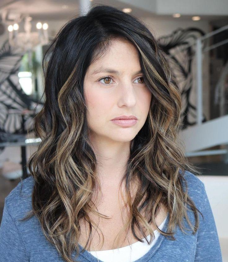 Current Long Haircuts For Wavy Hair With Regard To Best 25+ Long Wavy Haircuts Ideas On Pinterest | Cute Mom Haircuts (View 2 of 15)