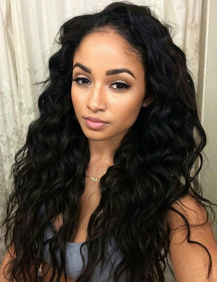Current Long Hairstyles Black Women Throughout Best 25+ Black Hair Extensions Ideas On Pinterest | Black Hair (View 7 of 20)