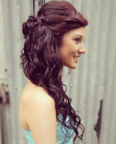 Current Long Hairstyles Bridesmaids Within 25 Most Charming Bridesmaid Hairstyles For Long Hair (View 8 of 20)
