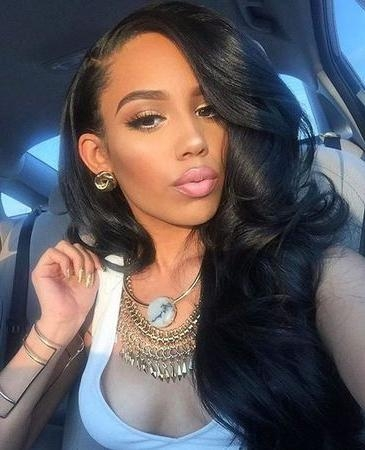 Current Long Hairstyles For Black Females Within Best 25+ Best Lace Front Wigs Ideas On Pinterest | Best Human Hair (View 8 of 20)