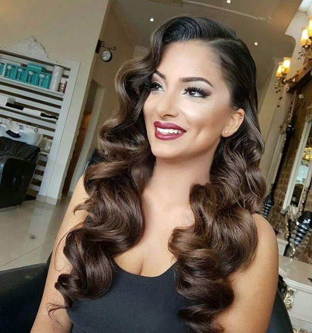 Current Old Hollywood Long Hairstyles Within Vintage Waves, Bridal Hairstyles … | Pinteres… (View 6 of 20)
