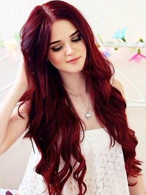 Current Red Long Hairstyles Regarding 25+ Red Hair Colors | Long Hairstyles 2017 & Long Haircuts (View 4 of 20)