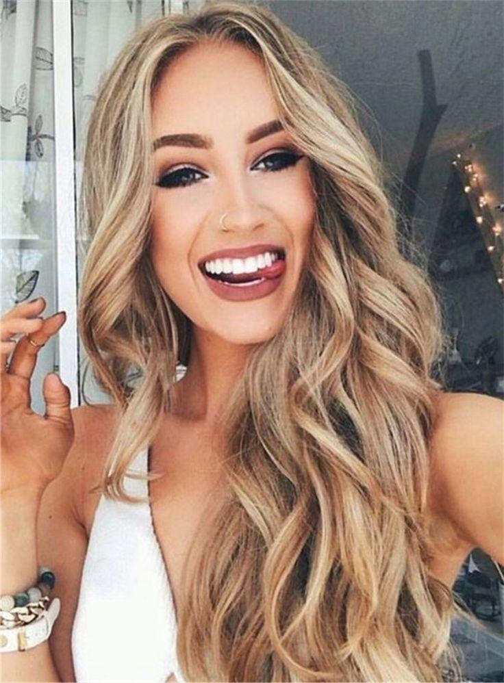 Current Wavy Curly Long Hairstyles For 25+ Trending Long Wavy Hairstyles Ideas On Pinterest | Long Wavy (View 6 of 20)