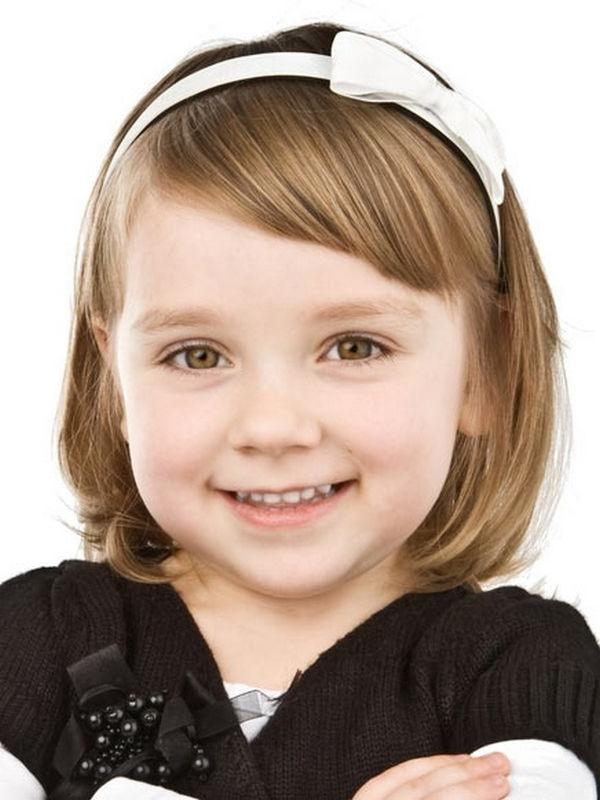 Cute Bangs, A Little Different From The Straight Across, Little Within Kids Short Haircuts With Bangs (View 14 of 20)