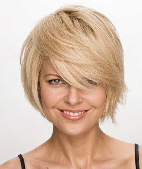 Cute Bob Hairstyles For Short Hair With Side Bangs And Layers With Short Haircuts With Bangs And Layers (View 14 of 20)
