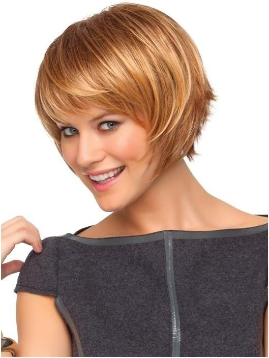 Cute Short Blonde Hair With Side Swept Bangs – Popular Haircuts In Short Haircuts With Side Swept Bangs (View 17 of 20)