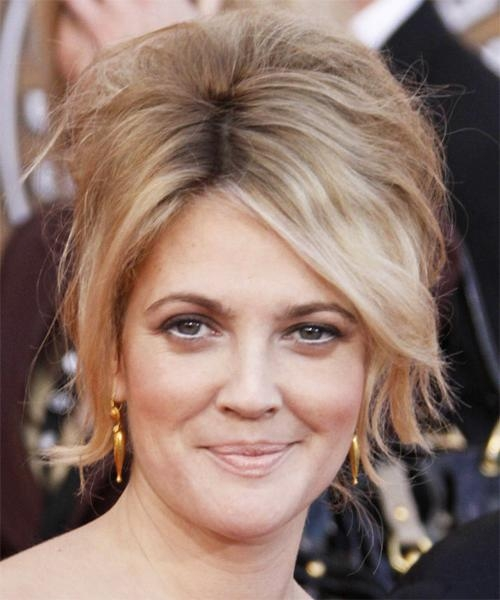 Drew Barrymore Curly Formal Updo Hairstyle With Regard To Drew Barrymore Short Hairstyles (Gallery 15 of 20)