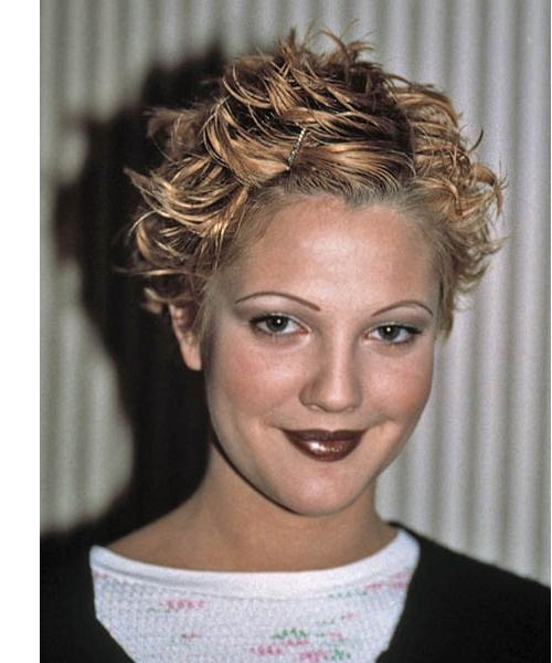 Drew Barrymore Short Wavy Casual Hairstyle Throughout Drew Barrymore Short Hairstyles (Gallery 3 of 20)