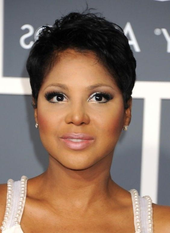 Photo Gallery Of Short Haircuts For Black Women Round Face Viewing